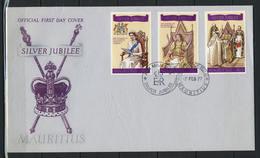 Mauritius; FDC MiNr. 425 - 427, 25 Jahre Regentschaft Von Königin Elisabeth II.;  E-33 - Mauritius (1968-...)