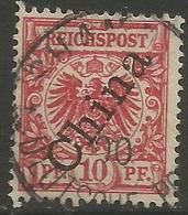German Offices China - 1898 Crown/Eagle Overprint 10pf Used  Sc 3 - Offices: China