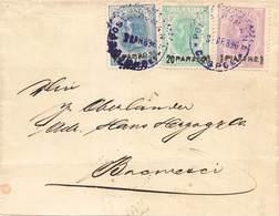 Romania Levant 1896 Bureau Roumain Turquie Lettre Cover Brief N° 1 ,  2 Et 3 - Levant (Turkey)
