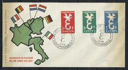 Luxemburg, FDC; MiNr. 590 - 592;  E-21 - 1958