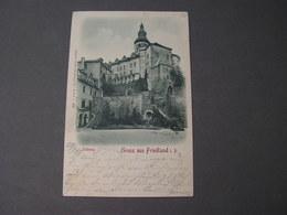 CSR Karte Friedland Böhmen 1899  Bahnpost - Repubblica Ceca