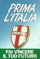 """Cartolina Pubblicitaria """"Libertas Democrazia Cristiana"""" Elezioni Politiche 1992 - Partiti Politici & Elezioni"""