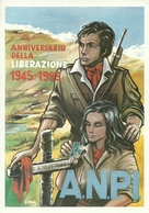 """Cartolina Pubblicitaria """"A.N.P.I. Bovisa Milano"""" 1945 - 1995 """"1994 Verso Il 50° Anniv. Della Liberazione"""" - Partiti Politici & Elezioni"""
