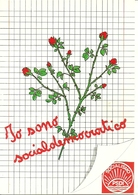 """Cartolina Pubblicitaria """"Socialismo PSDI"""" """"Io Sono Socialdemocratico"""" - Partiti Politici & Elezioni"""
