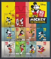 Portugal 2018 Mickey Mouse 90 Anos Years Walt Disney Steamboat Willie Personnages Célèbres Famous People - Disney