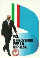 """Cartolina Pubblicitaria """"Unità Socialista PSI"""" """"PSI Un Governo Per La Ripresa"""" E Bettino Craxi - Partiti Politici & Elezioni"""