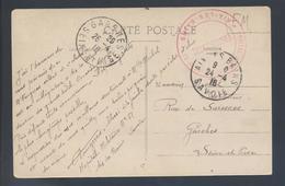 Hôpital Complémentaire N° 51 Aix Les Bains 1916 Savoie Franchise Rouge CP Entrée De La Rue Georges 1er - Marcophilie (Lettres)