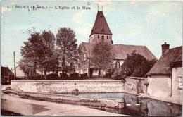 28 BROUE - L'église Et La Mare - Sonstige Gemeinden