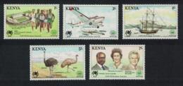 Kenya Ostrich Emu Birds Ships Airplane Sport 5v MNH SG#457-461 - Kenia (1963-...)