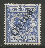 German Offices China - 1898 Crown/Eagle Overprint 20pf MH *  Sc 4a - Offices: China