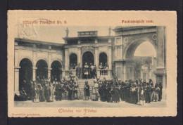 """5 Pf. Privat Ganzsache Oberammergau 1900 - """"Christtus Vor Pilatus"""" - Gebraucht - Christianisme"""