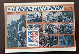 FRANCE Yvert 2656 Carte Maximum. 1er Jour LA FRANCE FAIT LA GUERRE. APPEL A LA RESISTANCE - Maximumkarten
