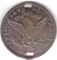 """MU003 Token """"Indian Counter"""" 22mm Durchmesser, Inschrift AHDTAO-ANOTH-NOT-TPNID - USA"""