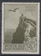 SAN MARINO - Michel - 1944 - Nr 312 - MH* - Poste Aérienne