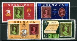 Grenada 1971 110th Anniversary Of The Postal Service Set MNH (SG 450-453) - Grenada (...-1974)