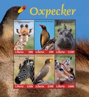 Liberia  2018 Fauna Oxpecker ,zebra. Giraffe ,hippo ,birds   I201901 - Liberia