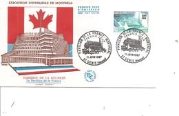 Exposition De Montréal -1967 ( FDC De La Réunion De 1967 à Voir) - 1967 – Montreal (Canada)