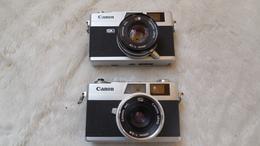 Appareils Photos  Canon, Canonet QL19 Et Canonet 28 Avec Livret, Objectifs Canon Lens 45mm 1:1,9 Et 40 Mm 1:1,8 - Appareils Photo