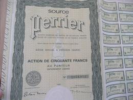 Action 50 Francs Source Perrier Vergèze Gard 1965 - Eau