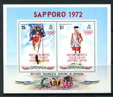 Grenada 1972 Winter Olympics Overprint MS MNH (SG MS475) - Grenada (...-1974)