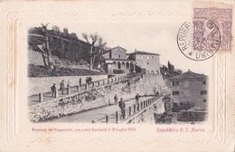 CPA  Repubblica Di S. Marino -Convento Dei Cappuccini, Ove Sosto Garibaldi Il 31 Luglio 1849 - 1903 - Saint-Marin