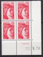 N° 1974 - X X - Daté 22/08/78 - 1970-1979