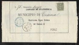 DA CESENA A FORLI' - 30.5.1881. - 1878-00 Umberto I