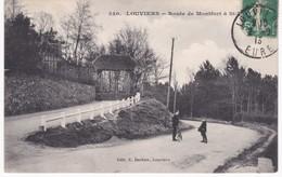 27 Eure -  LOUVIERS -  Route De Montfort à Saint-Lubin - 1913 - Louviers