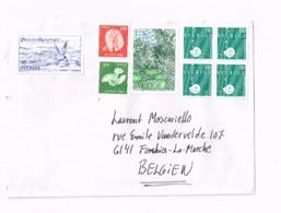 Lettre Adressée à Forchies-la-Marche (Belgique) - Suède