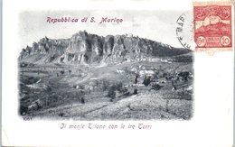 SAINT MARIN -- Il Monte Titano Con Le Ire Torri - Saint-Marin