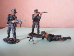 Lot 3 Figurines Soldats WW2 Soldat Plastique PAS Starlux Militaires Allemands (voir Description) - Starlux