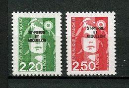 SPM MIQUELON 1991 N° 552/553 ** Neufs MNH Superbes C 2.35 € Marianne Du Bicentenaire - St.Pedro Y Miquelon