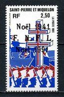 SPM MIQUELON 1991 N° 554 ** Neuf  MNH Superbe C 1.30 €  Noël Christmas Bateaux Navire De Guerre Croix Lorraine - Neufs