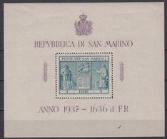 SAN MARINO - Michel - 1937 - BL 1 - MH* - Blocs-feuillets