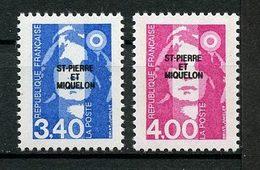 SPM MIQUELON 1992 N° 555/556 ** Neufs MNH Superbes C 4.20 €  Marianne Du Bicentenaire - St.Pedro Y Miquelon