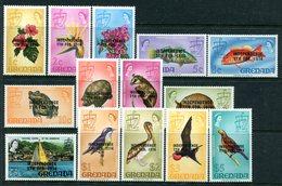 Grenada 1974 Independence Overprint Set MNH (SG 594-607) - Grenada (1974-...)