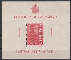 SAN MARINO - Michel - 1938 - BL 3 - MNH** - Blocs-feuillets