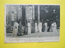Marseille ,Théatre Athéna ,Mlle Arnaud ,carte Autographe - Marseilles
