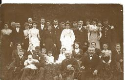 Carte Photo Ancienne Noce Mariage Famille - Marriages