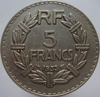 France 5 Francs 1933 VF / XF - France