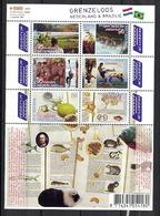 Nederland Pay Bas Olanda Netherlands 2009, Brazil Cashew Maracuyá Animals **, MNH, S/S - Period 1980-... (Beatrix)