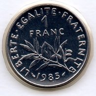 Semeuse  -  1 Franc 1985   -  état   FDC - Scellée - H. 1 Franc