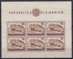 SAN MARINO - Michel - 1951 - Nr 456 (Velletje)(MOOI) - MNH** - Blocs-feuillets