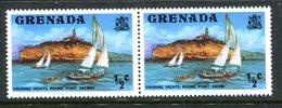 Grenada 1975-78 Pictorials - ½c Port Saline / ½c Port Salines ERROR Pair MNH (SG 649a) - Grenada (1974-...)