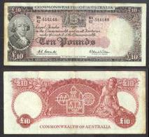 AUSTRALIA • Coombs/Wilson • QEII • RBA • 1960-65 • Ten Pounds - Pre-decimaal Stelsel Overheidsuitgave 1913-1965
