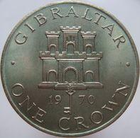 Gibraltar 1 Crown 1970 UNC Scarce - Gibraltar