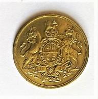 Token Médaille Dieu Et Mon Droit - Royaume-Uni