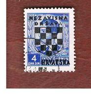 CROAZIA (CROATIA)  - SG 15 -  1941 STAMP OF YUGOSLAVIA KING PETAR II 4  (OVERPRINTED)     -   USED - Kroatien