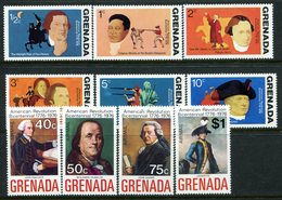 Grenada 1975 Bicentenary Of American Revolution - 1st Issue Set MNH (SG 694-703) - Grenada (1974-...)