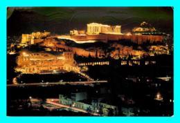 A759 / 263  GRECE Athenes Akropolis Illuminée ( Timbre ) - Grèce